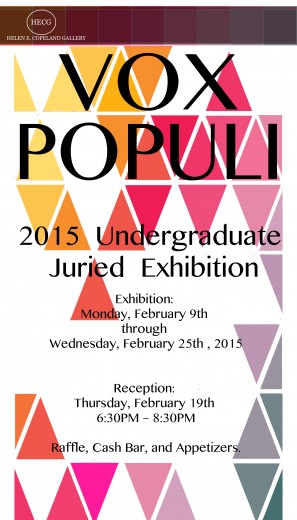 Poster of the Vox Populi 2015 event.